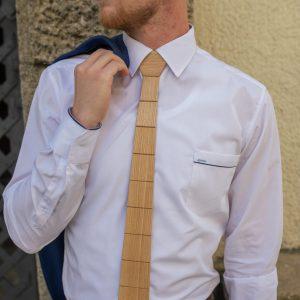 """Drevená pánska kravata Classic prírodná """"MARKstyle"""""""