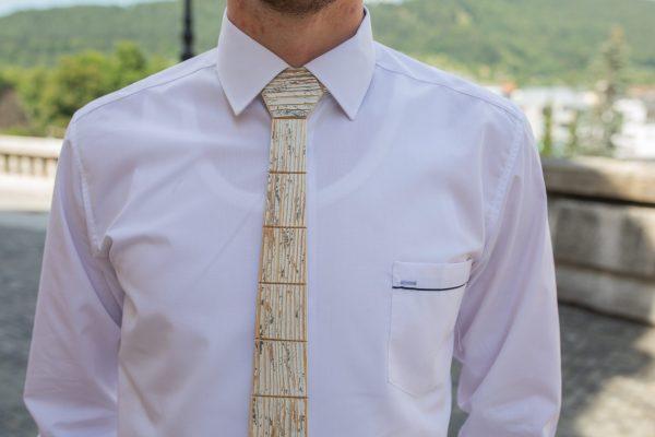 """Drevená pánska kravata Retro sivá """"MARKstyle"""""""