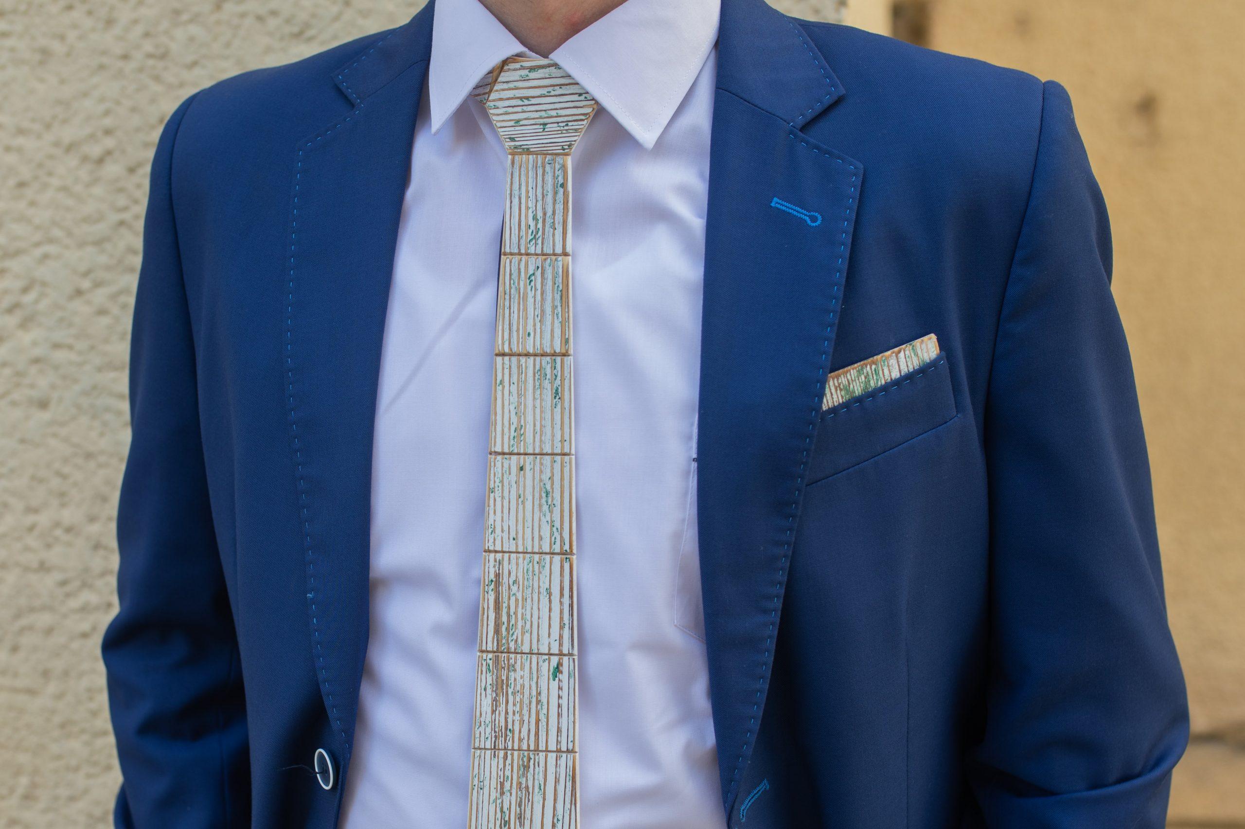 """Drevená pánska kravata Retro zelená """"MARKstyle"""""""