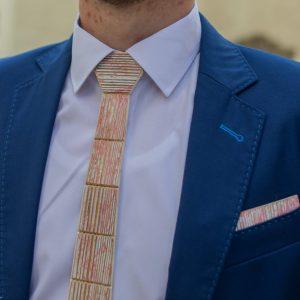 """Drevená pánska kravata Retro ružová """"MARKstyle"""""""