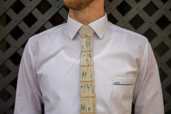 """Drevená pánska kravata Retro modrá """"MARKstyle"""""""